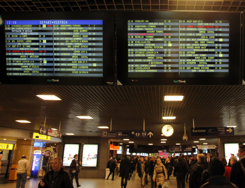 Brussels departure board by Phil Marsh