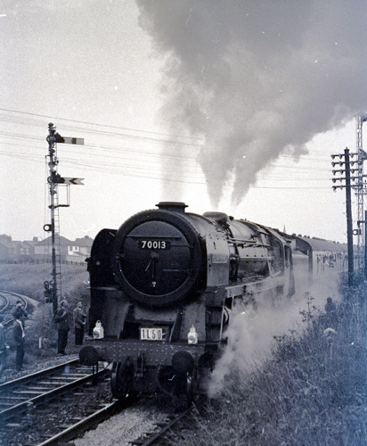 70013 on railtour duty in 1968 by Geoff Marsh