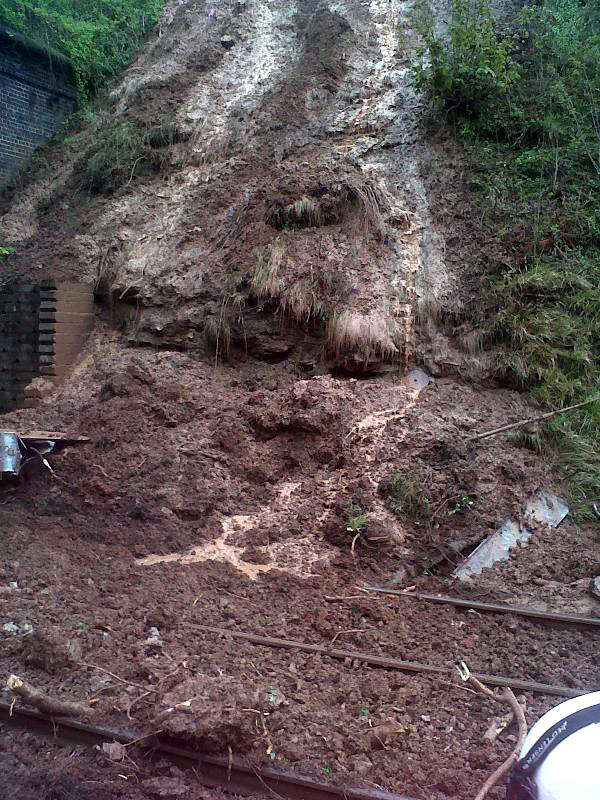 Landslide at Clarborough Tunnel