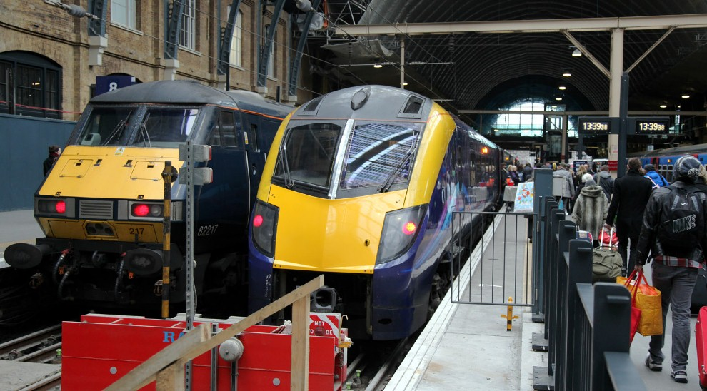 A Hull Trains 180 at Kings Cross by Phil Marsh