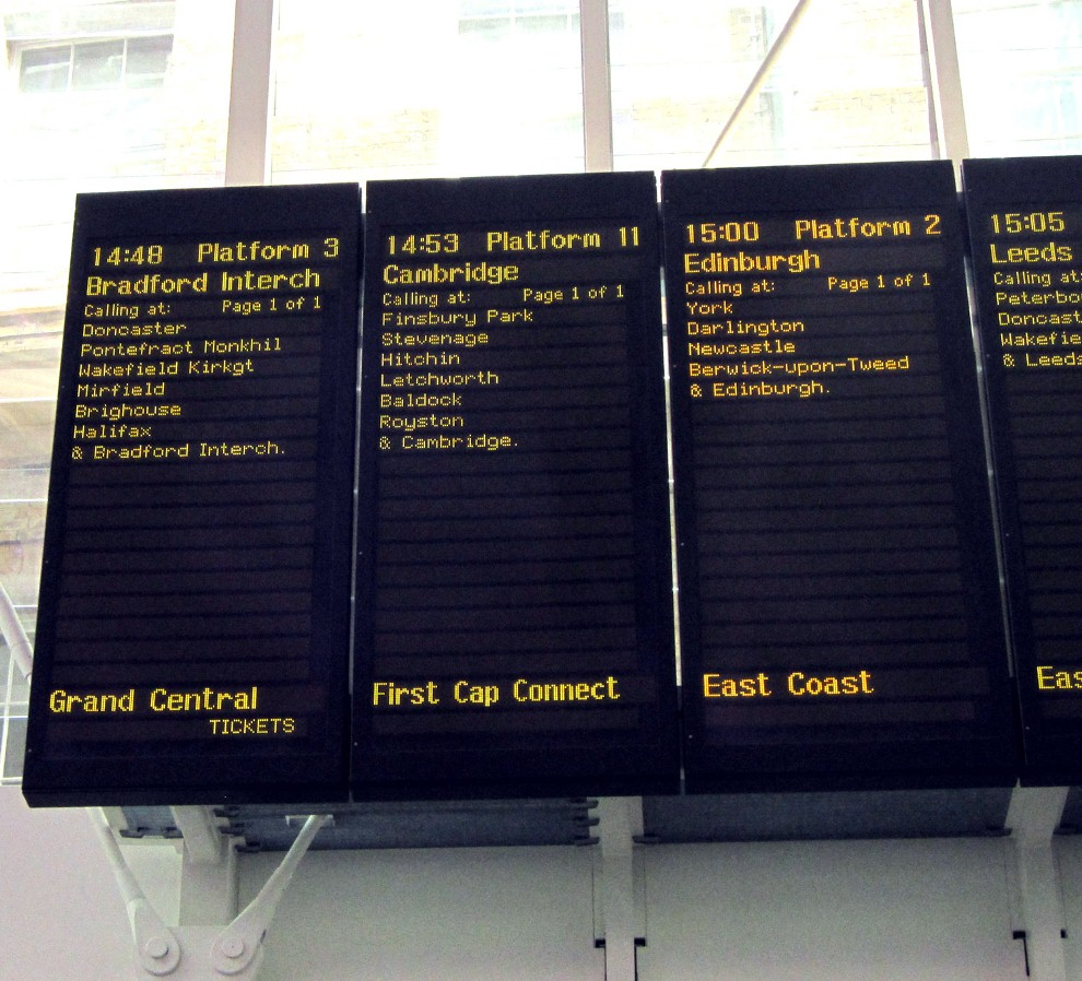 Competition on The Kings Cross Departure Board by Phil Marsh