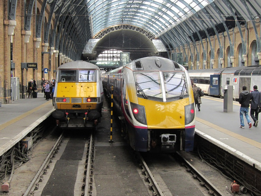 Kings Cross Grand Central Train and an East Coast Service by Phil Marsh
