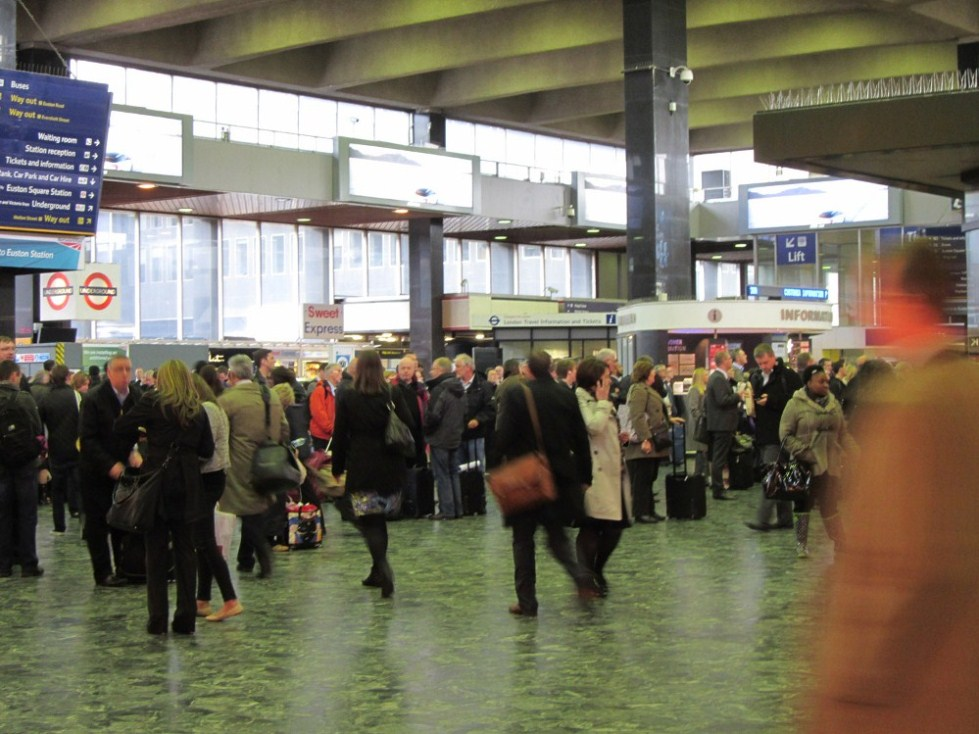 Euston Crowds by Phil Marsh