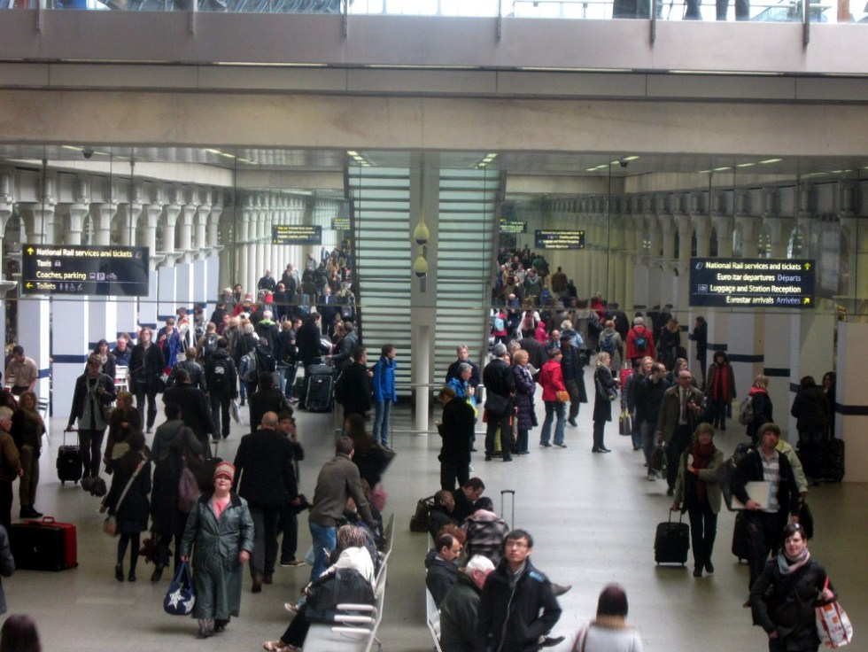 St Pancras Crowds by Phil Marsh