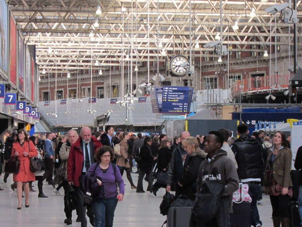 Waterloo Crowds by Phil Marsh