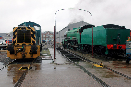 Knights Rail Services, Eastleigh Works, test steaming of 925, Cheltenham. By Phil Marsh
