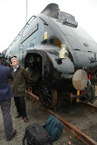 Steve Davies and Sir Nigel Gresley