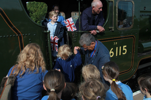 School visits to the engine by Phil Marsh