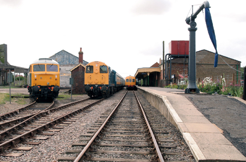 Dereham station loop with class 20 Phil Marsh