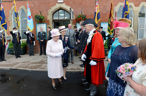 HM Queen at Hereford station by Jack Boskett