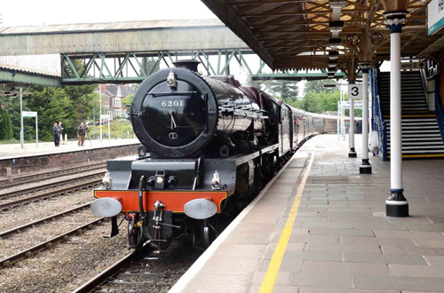 6201 on Royal train arriving at Hereford on the Royal by Jack Boskett