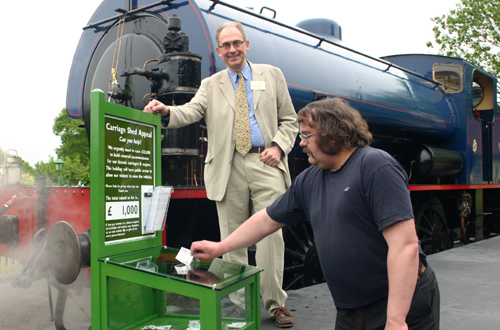 Launch of changing trains fund raising appeal by Phil Marsh