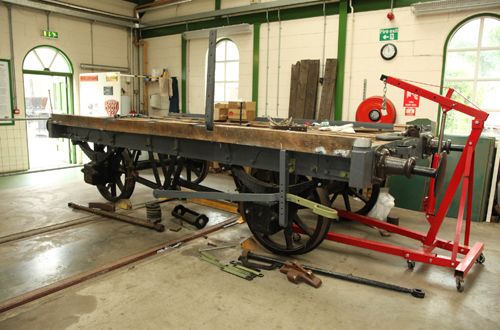 Wagon restoration at IOWSR by Phil Marsh