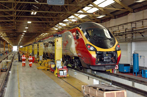 Newly-lengthened Pendolino No.390124 undergoing commissioning work at Manchester Longsight depot. by Paul Bickerdyke