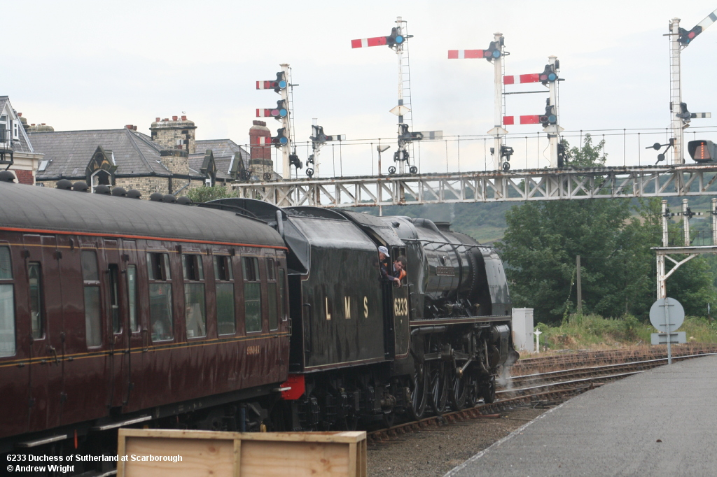 46233 Duchess of Sutherland on the Scarborough Flyer at Scarborough 2010