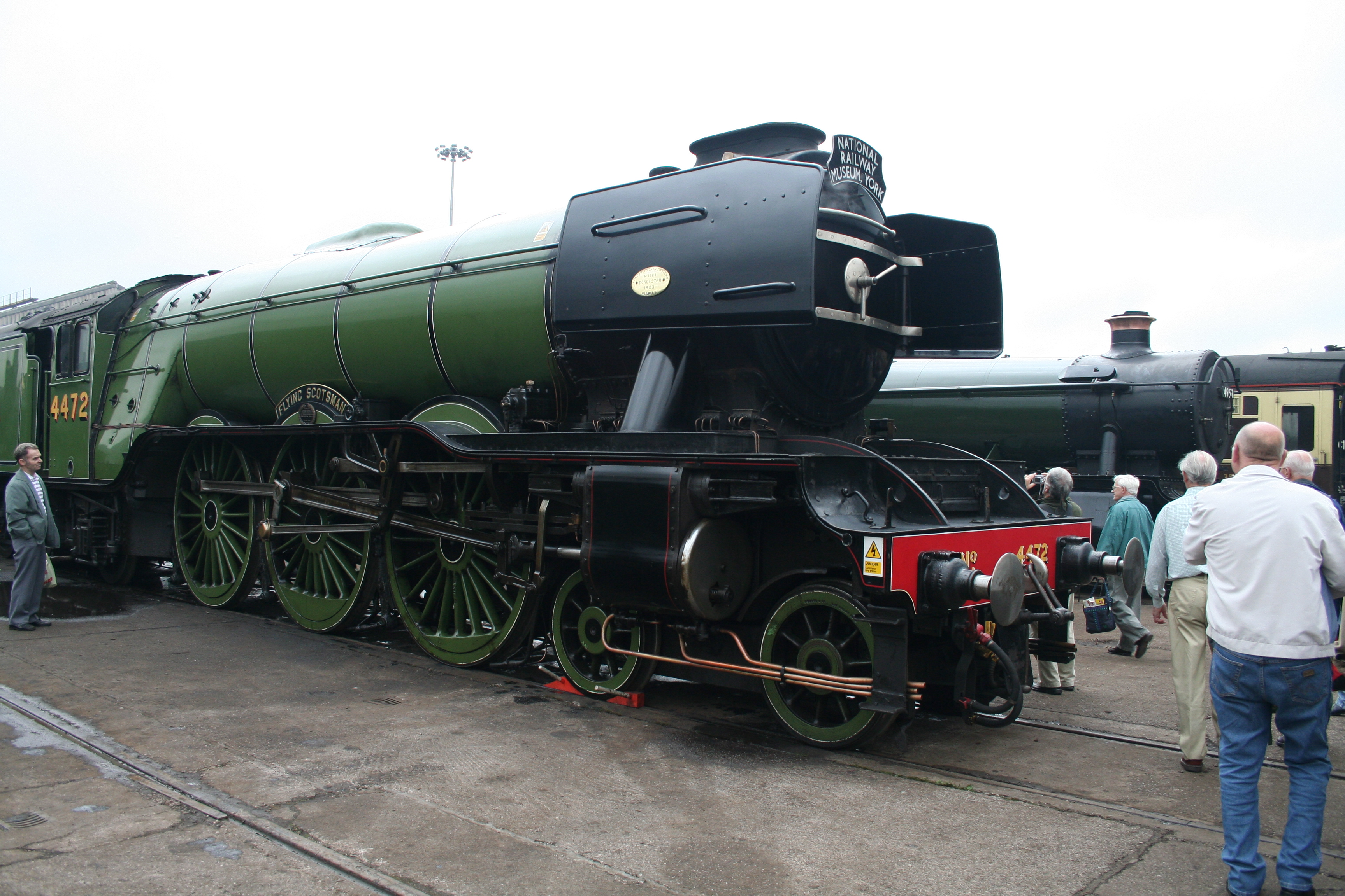 4474 Flying Scotsman seen at Crewe Works open day