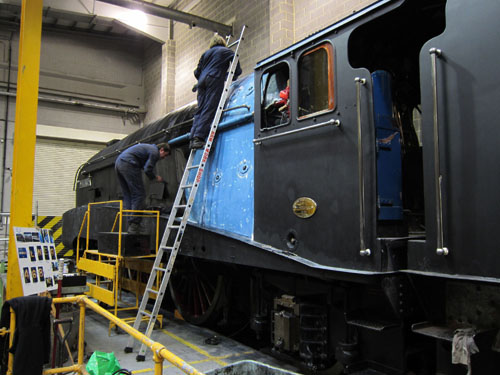 mallard being painted black in nrm workshops phil marsh