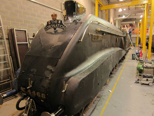 mallard in black in the nrm workshops phil marsh