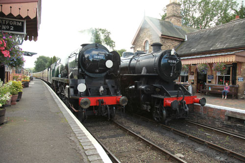 34053 and  43106 at hampton loade phil marsh