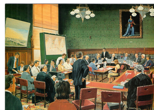 The HS1 Select Committee sitting in 1995 Union Railways