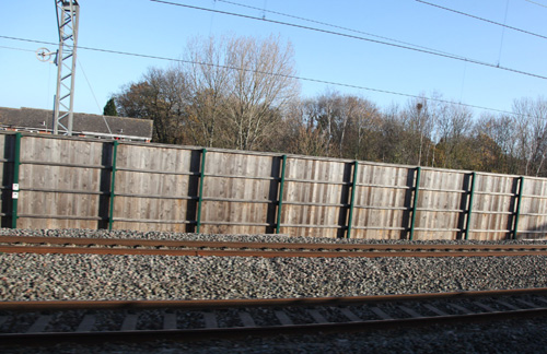 Noise barriers on west coast main line by Phil Marsh