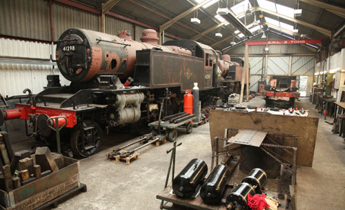 2011 Ivatt tanks at IOWSR works by Phil Marsh