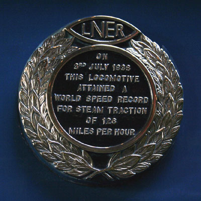 World record speed badge Mallard Crest by Phil Marsh