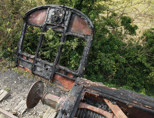 Chinnor arson attack coach frame by Phil Marsh