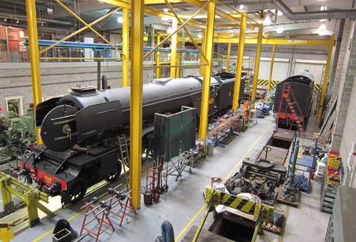 Flying Scotsman in the museum works. By Phil Marsh