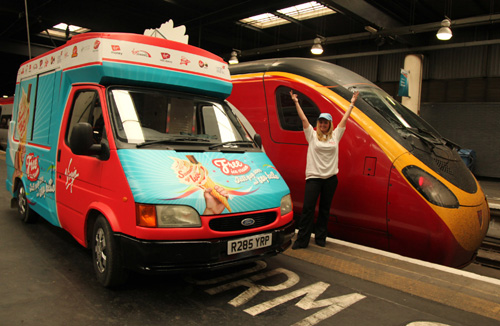 Virgin celebrations at Euston by Phil Marsh