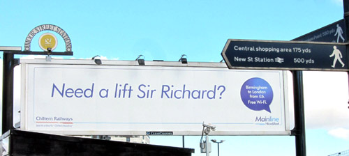 Message to Sir Richard from Chiltern at Birmingham Moor Street by Phil Marsh