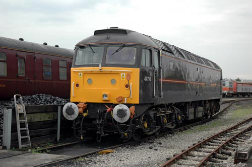 Former royal loco No. 47798 at the NRM. By Paul Bickerdyke