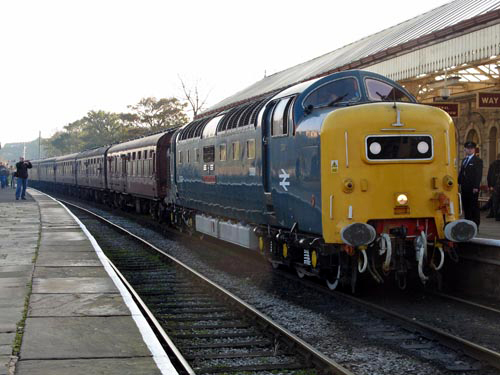 Deltic No. 55022 at Ramsbottom. By Paul Bickerdyke