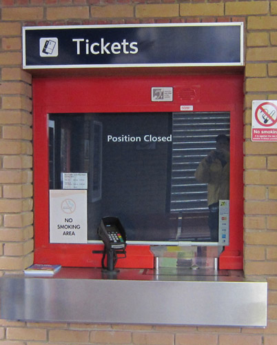Ticket office closed. By Phil Marsh