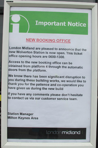 Wolverton opening notice. By Phil Marsh
