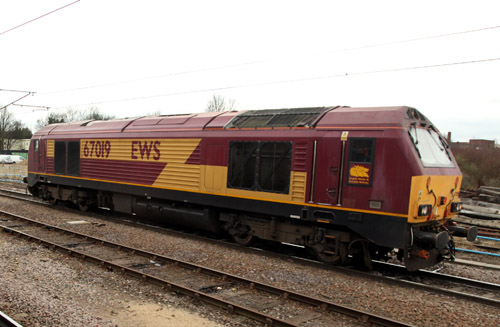 67019 in plain livery. By Phil Marsh