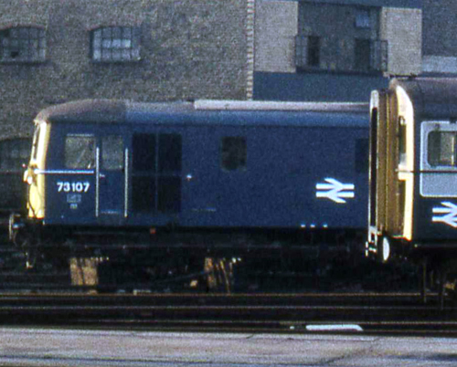 73107 at Waterloo in 1975. By Phil Marsh