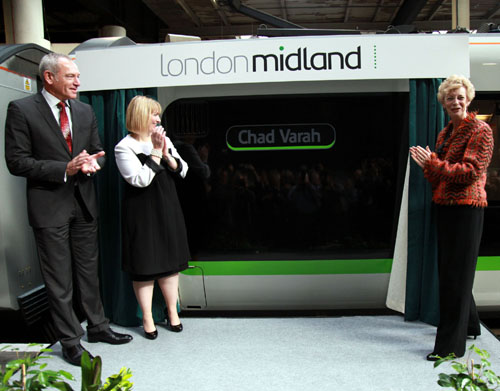 The London Midland MD Patrick Verwer at the naming. By Phil Marsh