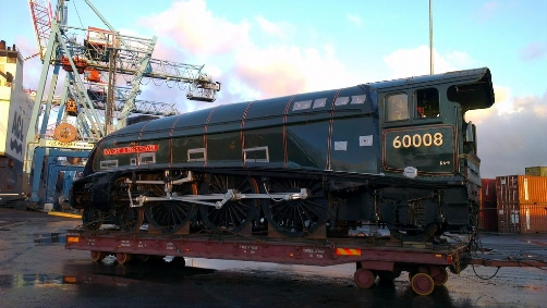 60008 at Liverpool docks courtesy of Natonal Railway Museum