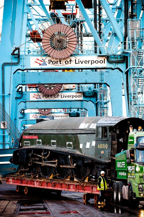 60010 back on UK soil at Liverpool docks courtesy of Natonal Railway Museum
