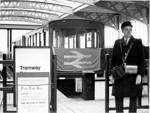 Ryde Pier tram last day 21 Jan 69. Photographer unknown