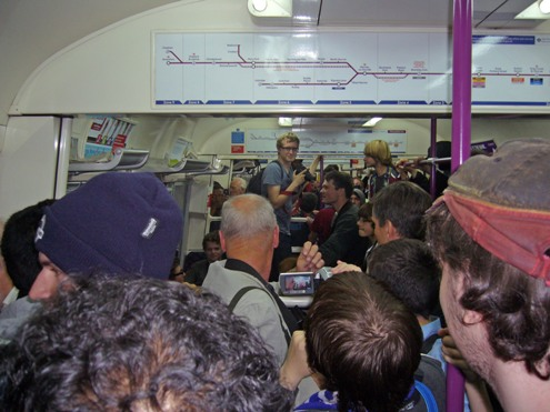 Last service train crowds courtesy of John Farrow