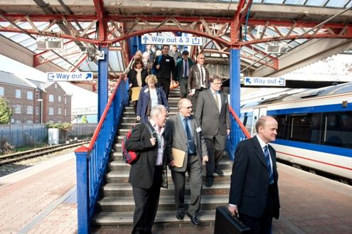 Guests join the special train at Aylesbury courtesy of EWRL consortium