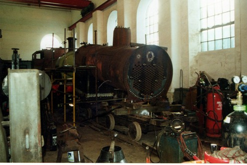 Met 1 under repair at the flour mill in 2001 courtesy of Phil Marsh