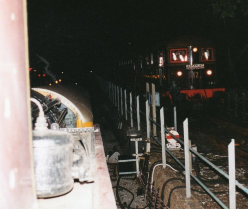 1999 steam on the Met by night. Sarah Siddons from Met No 1 courtesy of Phil Marsh