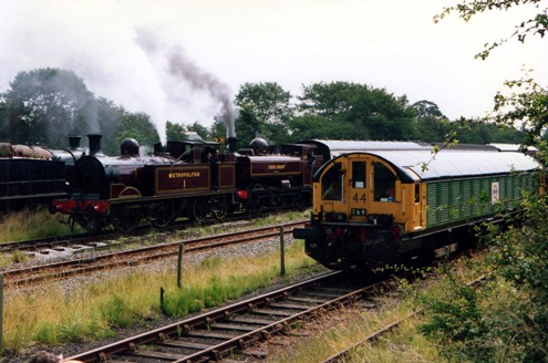 Metropolitan steam and battery engines at Quainton courtesy of Phil Marsh