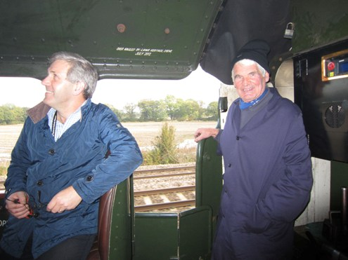 On 60009 with owner John Cameron and Steve Davies of the NRM courtesy of Phil Marsh