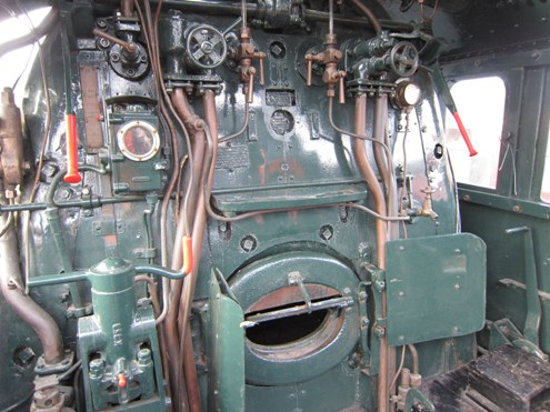 The cab of 60008 at Shildon courtesy of Phil Marsh