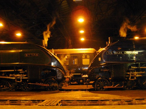 60007 and 60019 by night courtesy of Phil Marsh