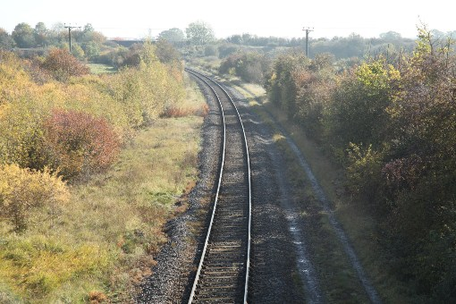Aylesbury to Calvert freight line looking towards Bucks Rail Centre courtesy of Phil Marsh